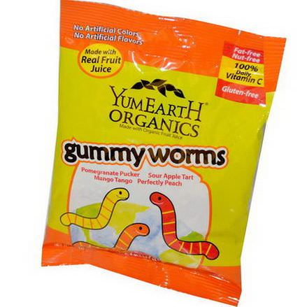 Yummy Earth, Organics, Gummy Worms, 12 Packs 71g Each