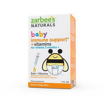 Zarbee's, Baby, Immune Support Vitamins, Natural Orange Flavor, 2 fl oz