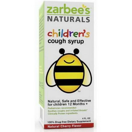 Zarbee's, Children's Cough Syrup, Natural Cherry Flavor, 4 fl oz