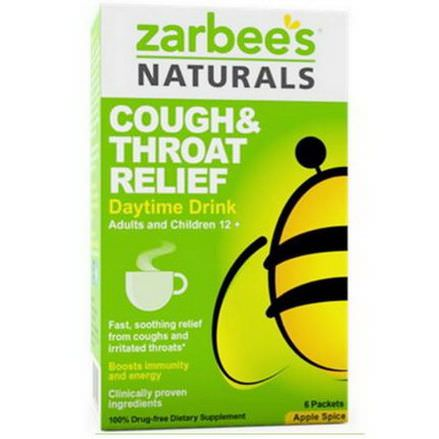 Zarbee's, Cough&Throat Relief, Daytime Drink, Apple Spice 16g Each