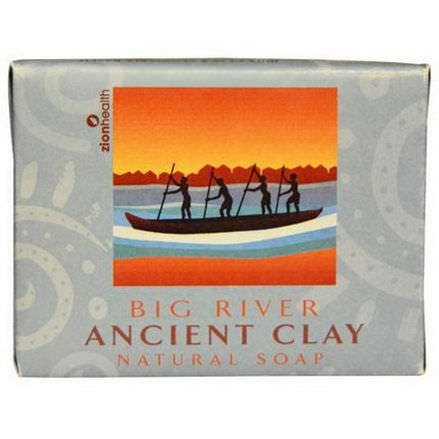 Zion Health, Ancient Clay Natural Soap, Big River 300g