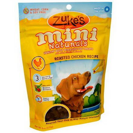 Zuke's, Mini Naturals, Healthy Moist Miniature Dog Treats, Roasted Chicken Recipe 170g