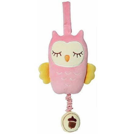 Greenpoint Brands, My Natural, Musical Pull Toy, Pink Owl, 1 Toy