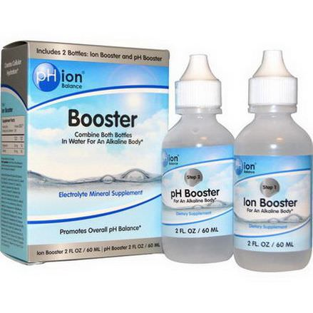 pHion Balance, Booster, Electrolyte Mineral Supplement, 2 Bottles 60ml Each