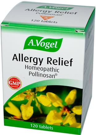 Allergy Relief, 120 Tablets by A Vogel-Kosttillskott, Homeopati, Allergier, Allergi