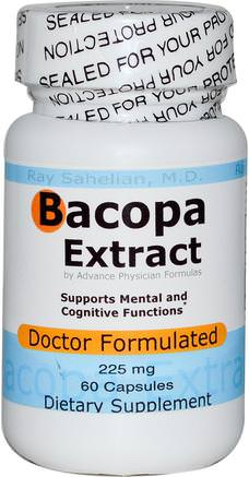 Bacopa Extract, 225 mg, 60 Capsules by Advance Physician Formulas-Örter, Bacopa (Brahmi)