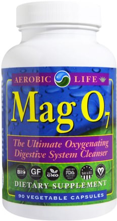 Mag 07, The Ultimate Oxygenating Digestive System Cleanser, 90 Veggie Caps by Aerobic Life-Kosttillskott, Mineraler, Magnesiumoxid