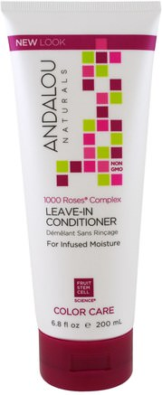 1000 Roses Complex, Color Care, Leave-In Conditioner, 6.8 fl oz (200 ml) by Andalou Naturals-Bad, Skönhet, Hår, Hårbotten, Schampo, Balsam