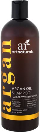 Argan Oil Shampoo, Hair Growth Treatment, 16 fl oz (473 ml) by Artnaturals-Bad, Skönhet, Schampo, Arganschampo