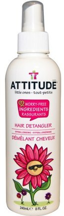 Little Ones, Hair Detangler, 8 fl oz (240 ml) by ATTITUDE-Bad, Skönhet, Balsam, Barn Detangler, Hår, Hårbotten, Schampo, Balsam