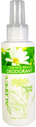 Calendula Blossom Deodorant, Natural Spray, 4 fl oz (118 ml) by Aubrey Organics-Bad, Skönhet, Deodorant Spray, Ansiktsvård, Calendula