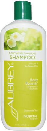 Chamomile Luxurious Shampoo, Body Booster, Normal, 11 fl oz (325 ml) by Aubrey Organics-Bad, Skönhet, Schampo, Hår, Hårbotten, Balsam