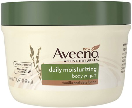 Active Naturals, Daily Moisturizing Body Yogurt, Vanilla and Oats Lotion, 7 oz (198 g) by Aveeno-Hälsa, Hud, Kroppsbrännare