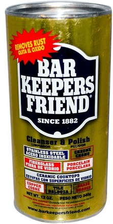 Cleanser & Polish, 12 oz (340 g) by Bar Keepers Friend-Hem, Hushållsrengöringsmedel, Badrumsrenare