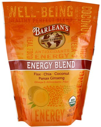 Organic Energy Blend, 12 oz (340 g) by Barleans-Kosttillskott, Fruktuttag, Superfrukt, Antioxidanter, Antioxidant
