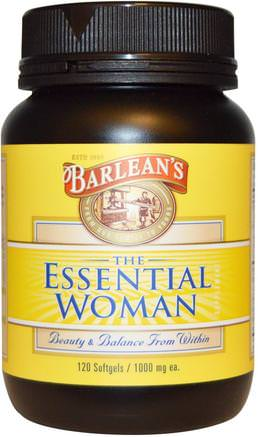 The Essential Woman, 1000 mg, 120 Softgels by Barleans-Hälsa, Kvinnor