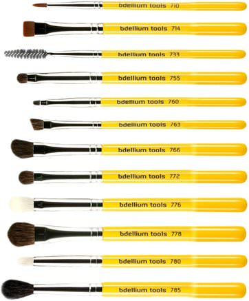 Studio Line, Eyes Brush Set and Pouch, 12 Pc Set by Bdellium Tools-Bad, Skönhet, Smink, Bdelliumverktyg Studio Linje, Smink Verktyg, Makeup Borstar