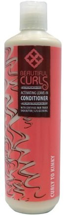 Activating Leave-In Conditioner, Curly to Kinky, 12 fl oz (350 ml) by Beautiful Curls-Bad, Skönhet, Hår, Hårbotten, Schampo, Balsam, Balsam