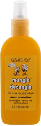 Mangle Detangle, Fresh Natural Scent, 6.7 oz (200 ml) by Bella B-Bad, Skönhet, Balsam, Barn Detangler, Hår, Hårbotten, Schampo, Balsam