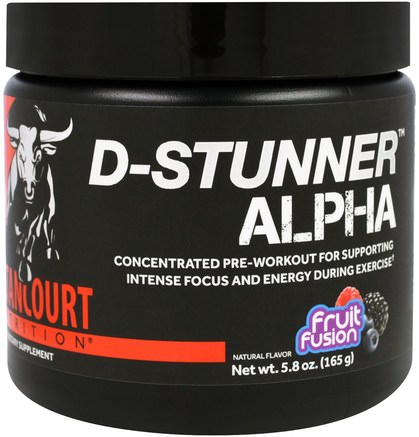 D-Stunner Alpha, Fruit Passion, 5.8 oz (165 g) by Betancourt-Sport, Träning, Muskel