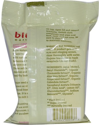 Daily Cleansing & Makeup Remover Towelettes, Pro-Age, 30 Thick Towelettes by Blum Naturals-Skönhet, Ansiktsvård, Hudtyp Anti-Aging Hud, Ansiktsservetter