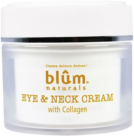 Eye & Neck Cream with Collagen, 1.69 oz (50 ml) by Blum Naturals-Skönhet, Öga Krämer, Ansiktsvård, Krämer Lotioner, Serum
