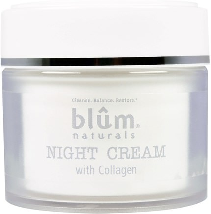 Night Cream with Collagen, 1.69 oz (50 ml) by Blum Naturals-Hälsa, Hud, Nattkrämer