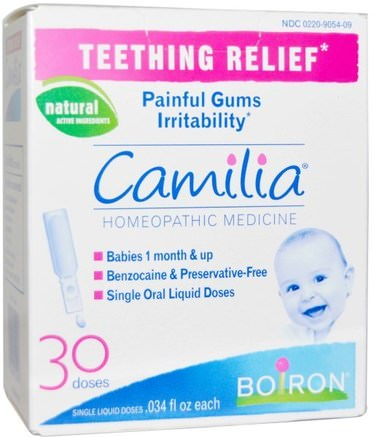 Camilia, Teething Relief, 30 Liquid Doses.034 fl oz Each by Boiron-Barns Hälsa, Barnbidrag, Barn