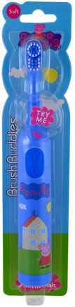 Peppa Pig, Electric Toothbrush, Soft, 1 Toothbrush by Brush Buddies-Barns Hälsa, Barnomsorg