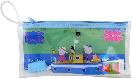 Peppa Pig, Toothbrushing Travel Kit, 3 Piece Kit by Brush Buddies-Barns Hälsa, Barnomsorg