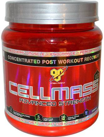 Cellmass 2.0, Concentrated Post Workout Recovery, Grape, 1.06 lbs (485 g) by BSN-Sport, Sport, Muskel