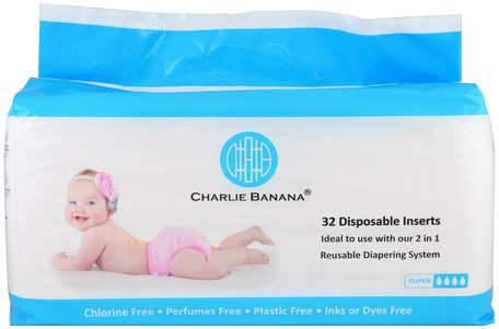 Disposable Inserts, Reusable Diapering System, 32 Inserts by Charlie Banana-Barns Hälsa, Diapering