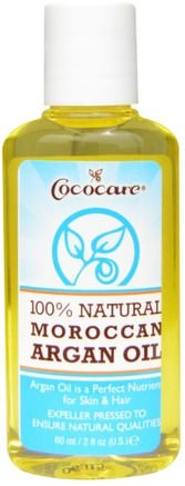 100% Natural Moroccan Argan Oil, 2 fl oz (60 ml) by Cococare-Hälsa, Hud, Massage Olja, Bad, Skönhet, Hår, Hårbotten