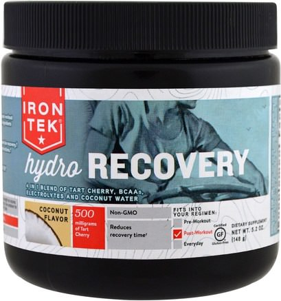 Iron Tek Hydro Recovery, Coconut Flavor, 5.2 oz (148 g) by Country Life-Hälsa, Energi