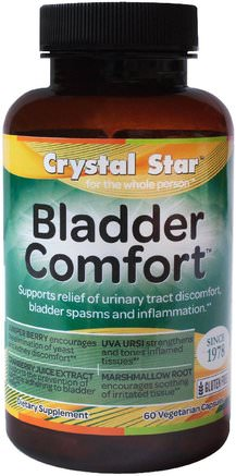 Bladder Comfort, 60 Veggie Caps by Crystal Star-Hälsa, Blåsan