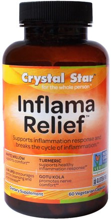 Inflamma Relief, 60 Veggie Caps by Crystal Star-Hälsa, Anti Smärta