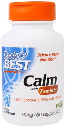 Calm with Zembrin, 25 mg, 60 Veggie Caps by Doctors Best-Hälsa, Humör, Ångest