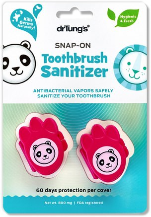 Kids Snap-On Toothbrush Sanitizer, 2 Toothbrush Sanitizers by Dr. Tungs-Bad, Skönhet, Oral Tandvård, Tandborstar, Barns Hälsa, Barnomsorg