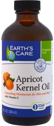 Apricot Kernel Oil, 8 fl oz (236 ml) by Earths Care-Hälsa, Hud, Aprikoskärnolja