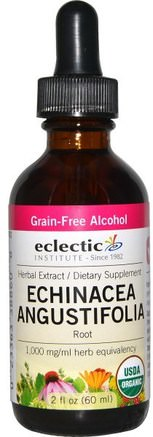 Echinacea Angustifolia Root, Grain-Free Alcohol, 2 fl oz (60 ml) by Eclectic Institute-Kosttillskott, Antibiotika, Echinacea