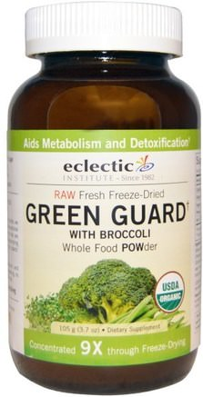 Green Guard with Broccoli, Whole Food Powder, 3.7 oz (105 g) by Eclectic Institute-Kosttillskott, Antioxidanter, Broccoli Korslevande