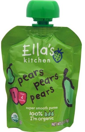 Pears Pears Pears, Super Smooth Puree, 2.5 oz (70 g) by Ellas Kitchen-Barns Hälsa, Barn Mat, Baby Matning, Mat
