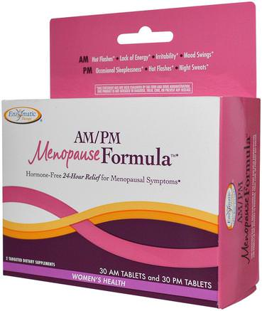 AM/PM Menopause Formula, Womens Formula, 60 Tablets by Enzymatic Therapy-Hälsa, Kvinnor, Klimakteriet
