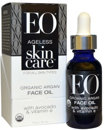 Ageless Skin Care, Organic Argan Face Oil, 1 fl oz (30 ml) by EO Products-Skönhet, Ansiktsvård, Hud, Bad, Argan Ansiktsvård