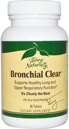 Terry Naturally, Bronchial Clear, 90 Tablets by EuroPharma-Hälsa, Lung Och Bronkial