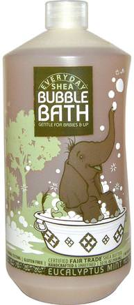 Bubble Bath, Gentle for Babies on Up, Eucalyptus Mint, 32 fl oz (950 ml) by Everyday Shea-Barns Hälsa, Barnbad, Bubbelbad