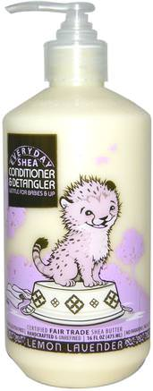 Conditioner & DeTangler, Gentle for Babies on Up, Lemon Lavender, 16 fl oz (475 ml) by Everyday Shea-Barns Hälsa, Barnbad, Balsam, Barnbalsam