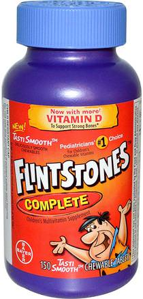 Complete, Childrens Multivitamin Supplement, 150 Chewable Tablets by Flintstones-Vitaminer, Multivitaminer, Barn Multivitaminer