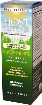 Host Defense, My Community Extract, 2 fl oz (60 ml) by Fungi Perfecti-Kosttillskott, Medicinska Svampar, Blandade Kombinationer Av Svamp