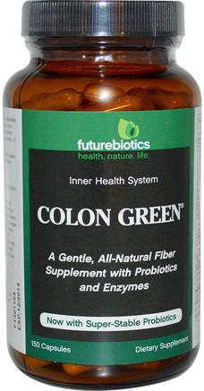 Colon Green, 150 Capsules by FutureBiotics-Hälsa, Detox, Kolon Rensa